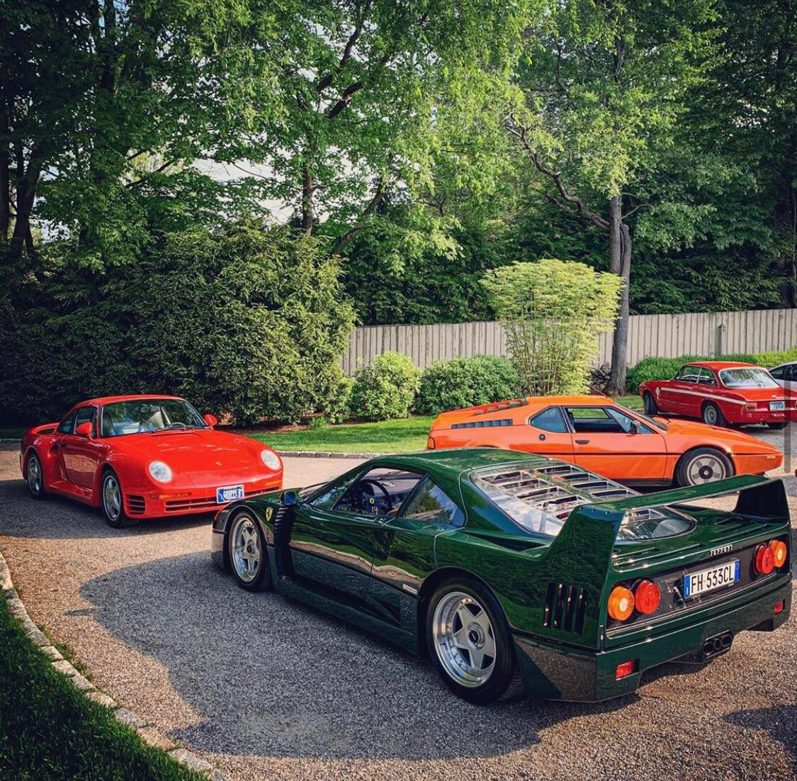 This must be heaven…. F40,959,M1,Alfa Romeo