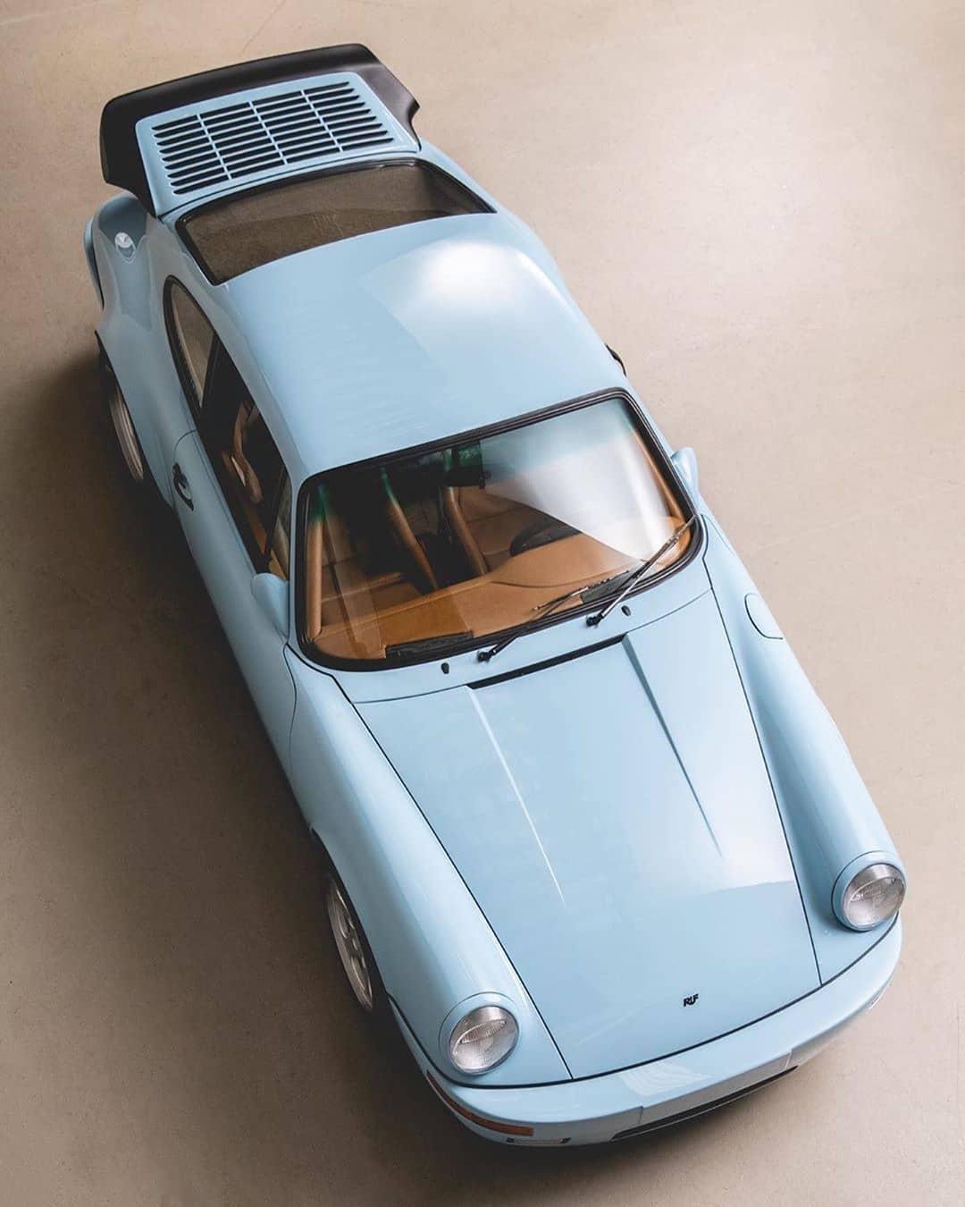 1985 RUF Carrera 3.4 in Gulf Blue.