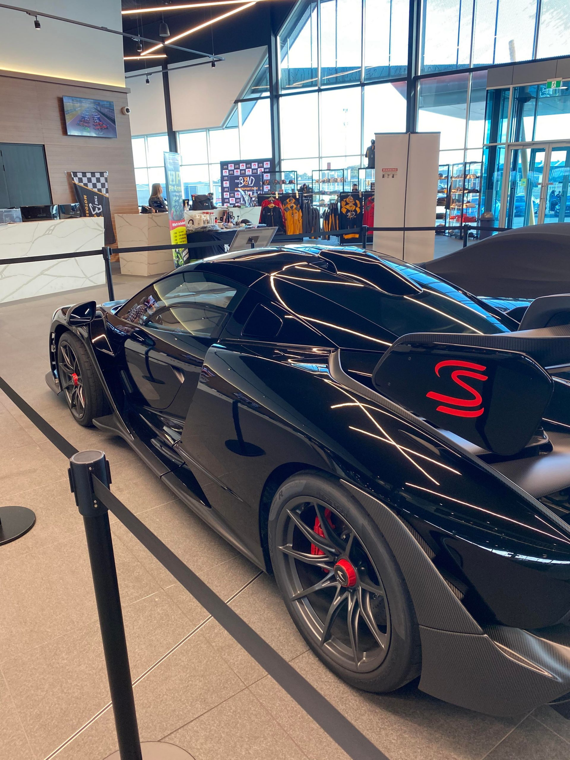 McLaren Senna at the bend Motorsport park