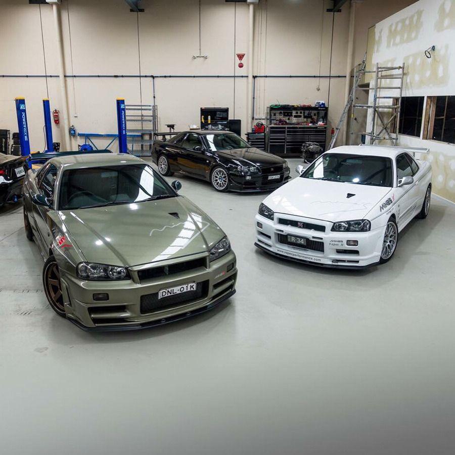 3 Mine's R34 Skyline GT-R's