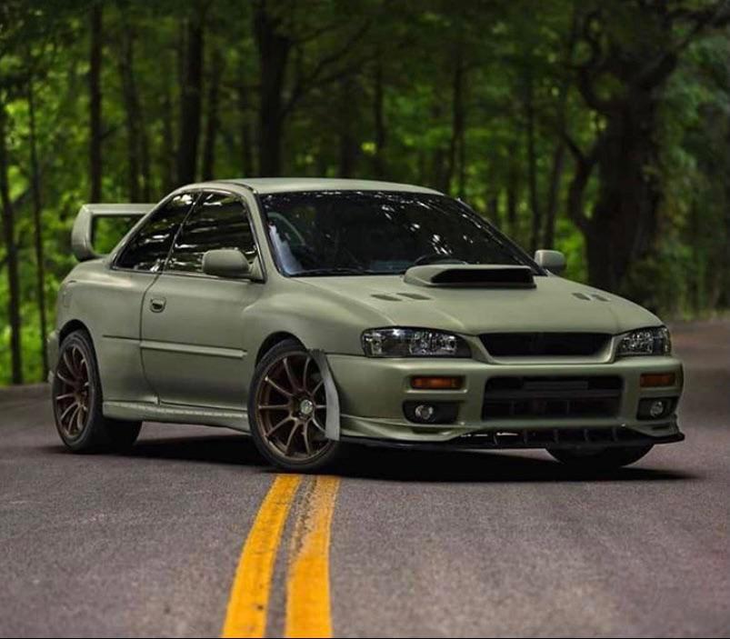 '98 WRX RS Green camo plasti-dip