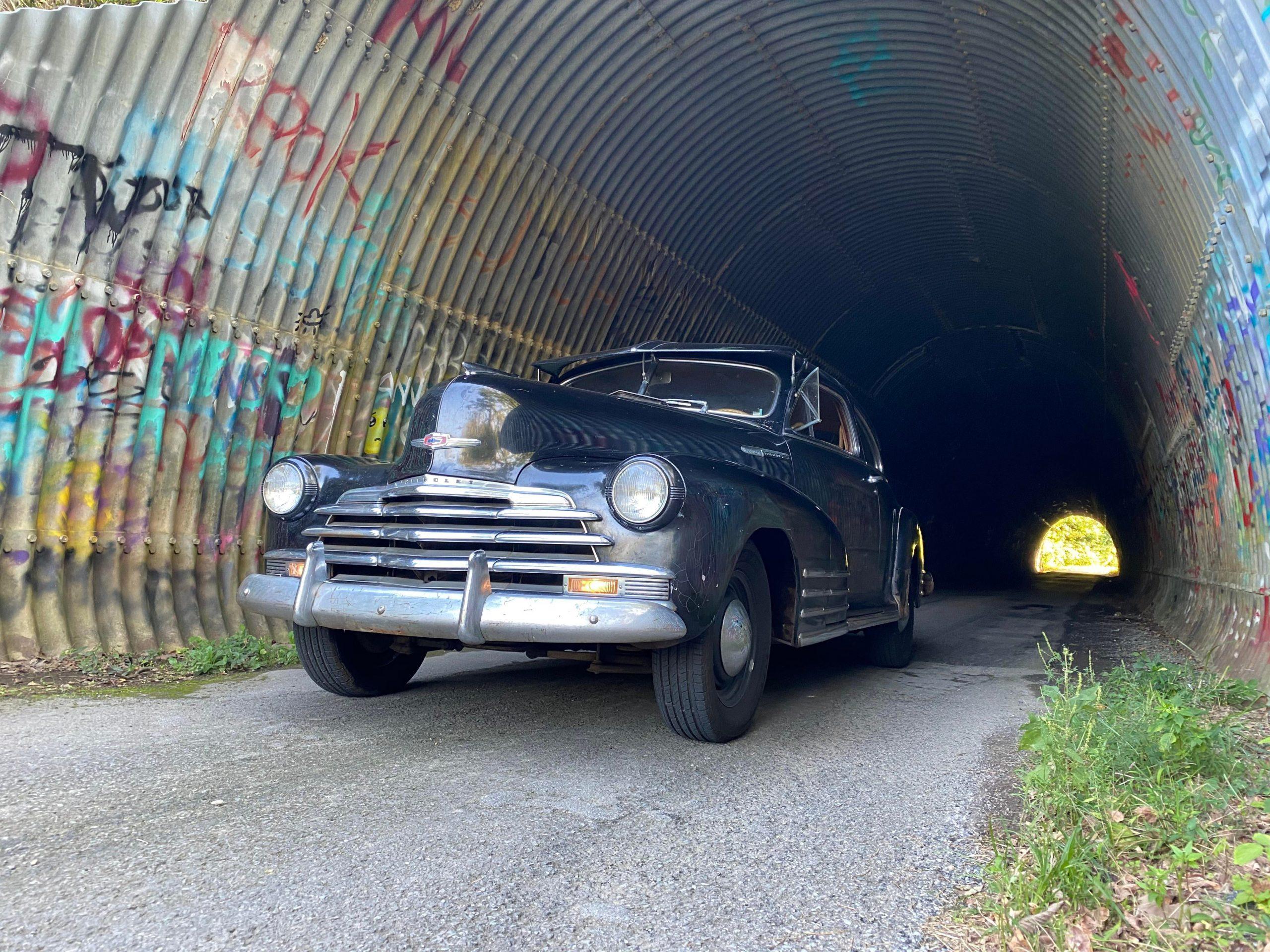 1947 Chevy Fleetline, it was my grandfathers. Now it's mine.