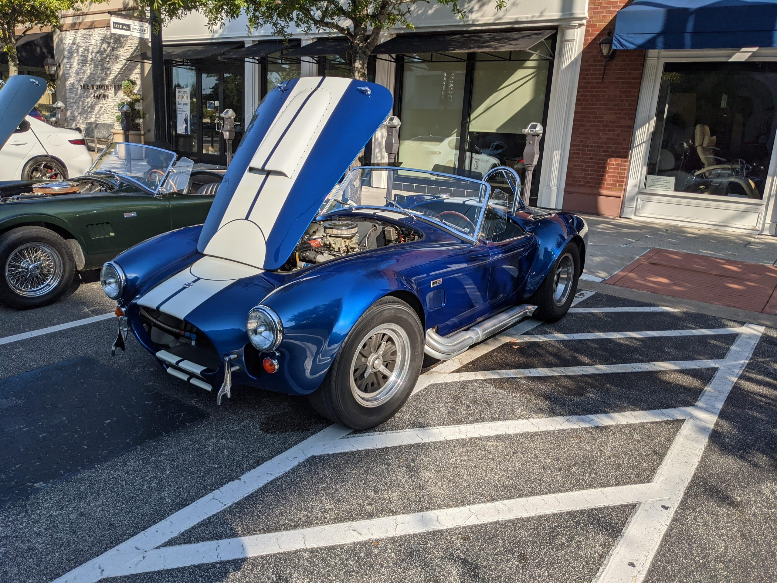 Not a clone. 427 Cobra at cars and coffee.