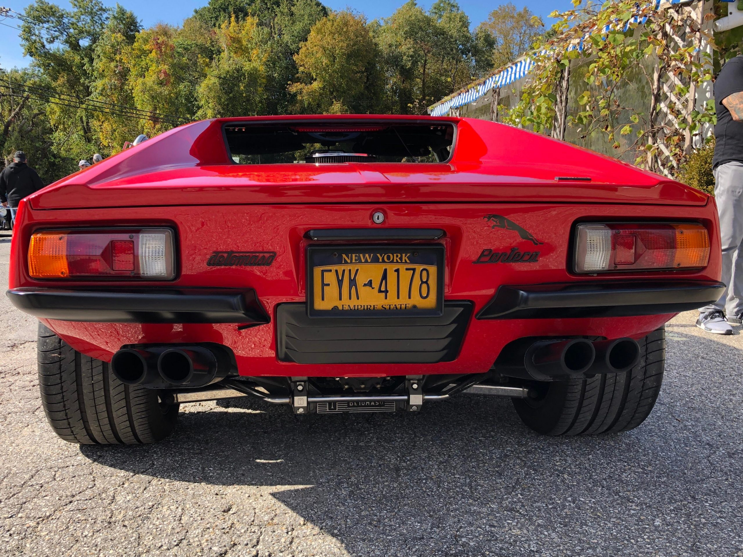 Of all the money shots from my local cars and coffee this morning, this is just my favorite. Behind a ' 74 Pantera.
