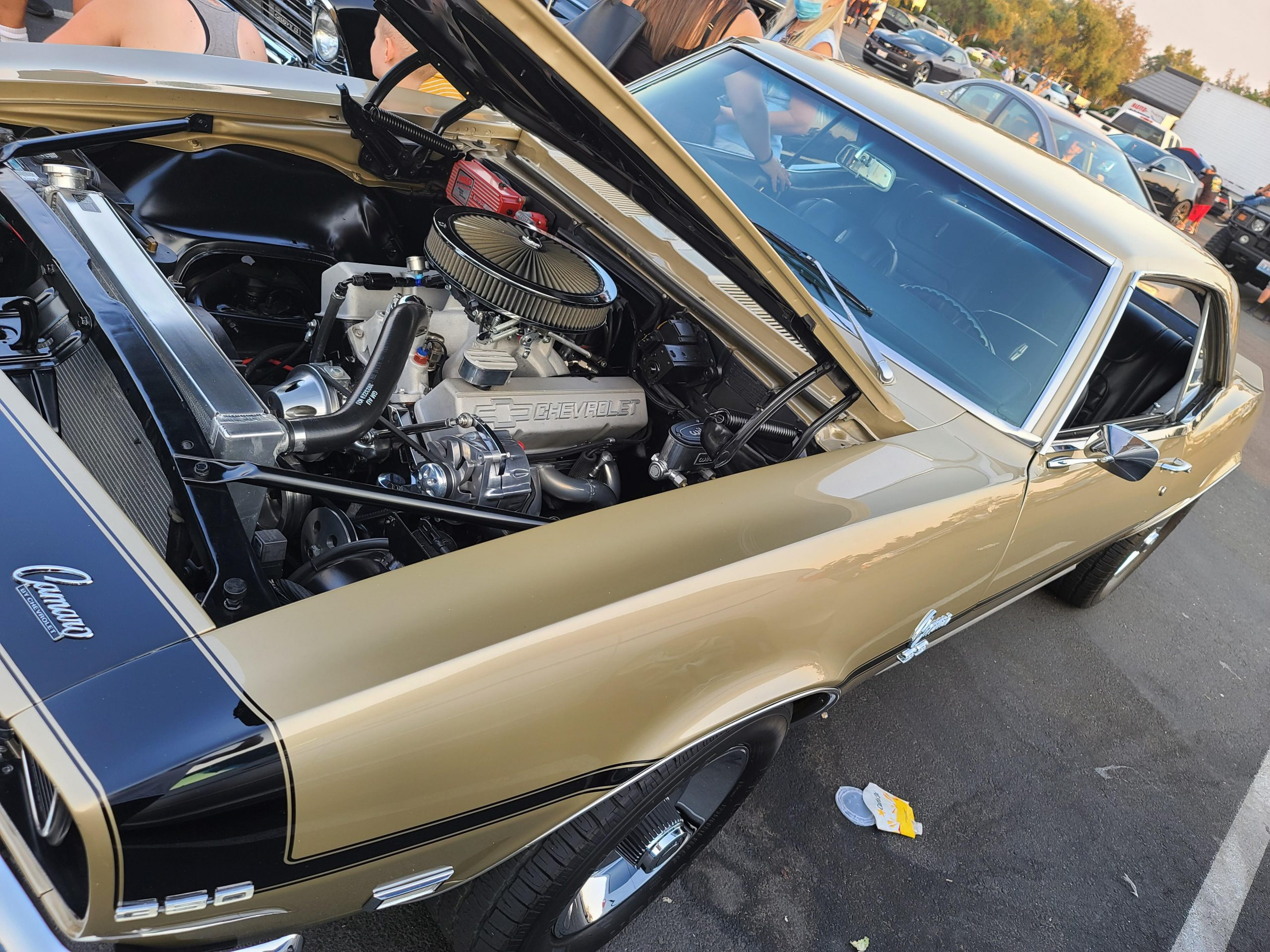 Under the hood shot of my uncle's 1968 Camaro.