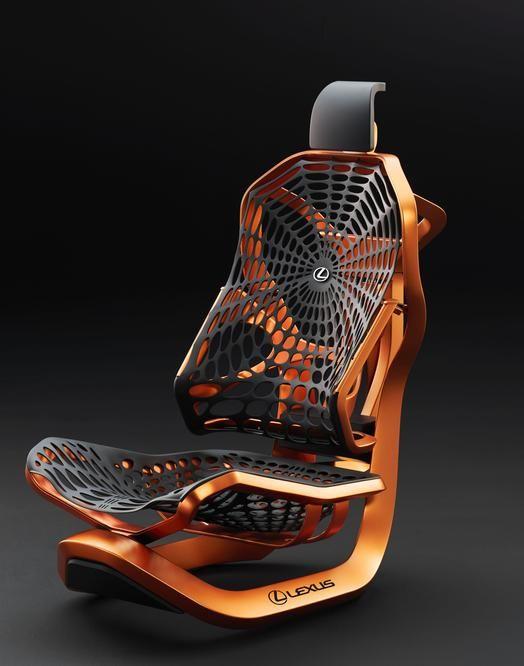 2016 Paris Motor Show – Lexus Kinetic Seat Concept uses a spider web-pattern net…