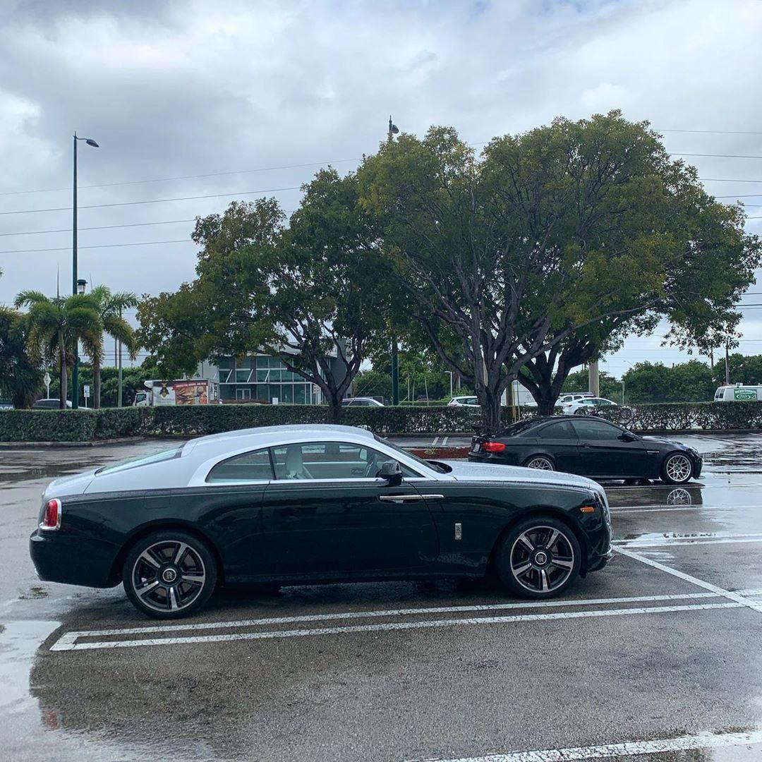 "Spencer Berke on Instagram: ""Really not used to this rain yet. ?  #florida #miami #rollsroyce #m3 ?"""