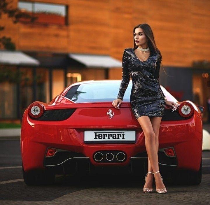 Ferrari and really beautiful girl