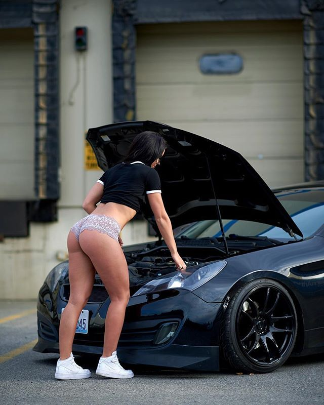 """Bobbi Wallace on Instagram: """"Oh you know, just causally checking the oil ? ? @dm.shoots  #throwback"""""""