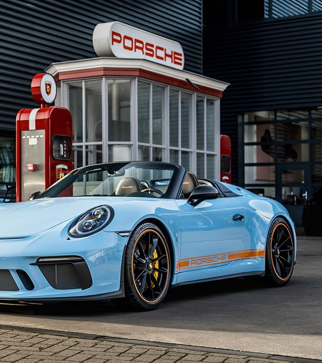 """Porsche's Finest on Instagram: """"2019 Porsche 911 Speedster and GT3 RS in Heritage racing colors. Part 2.  The interiors are designed in black leather,  complemented by the…"""""""