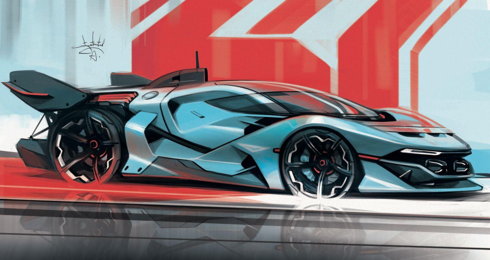 car sketch, Aleksandr Sidelnikov