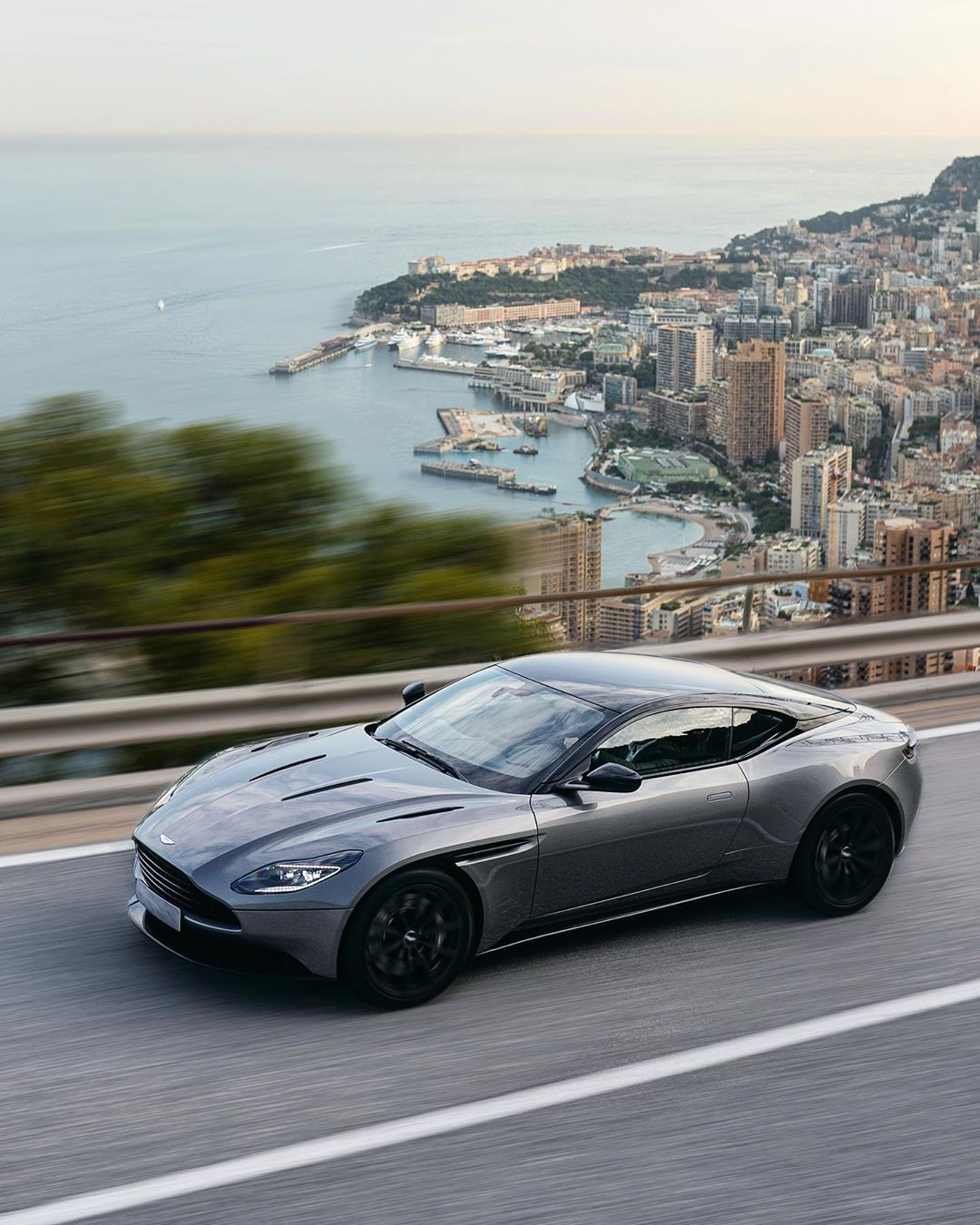 """Tom Claeren • Monte-Carlo on Instagram: """"? Wild yet elegant V12 roaring over Monaco. #DB11AMR, the most powerful DB production model in Aston Martin's history, is fantastic to…"""""""