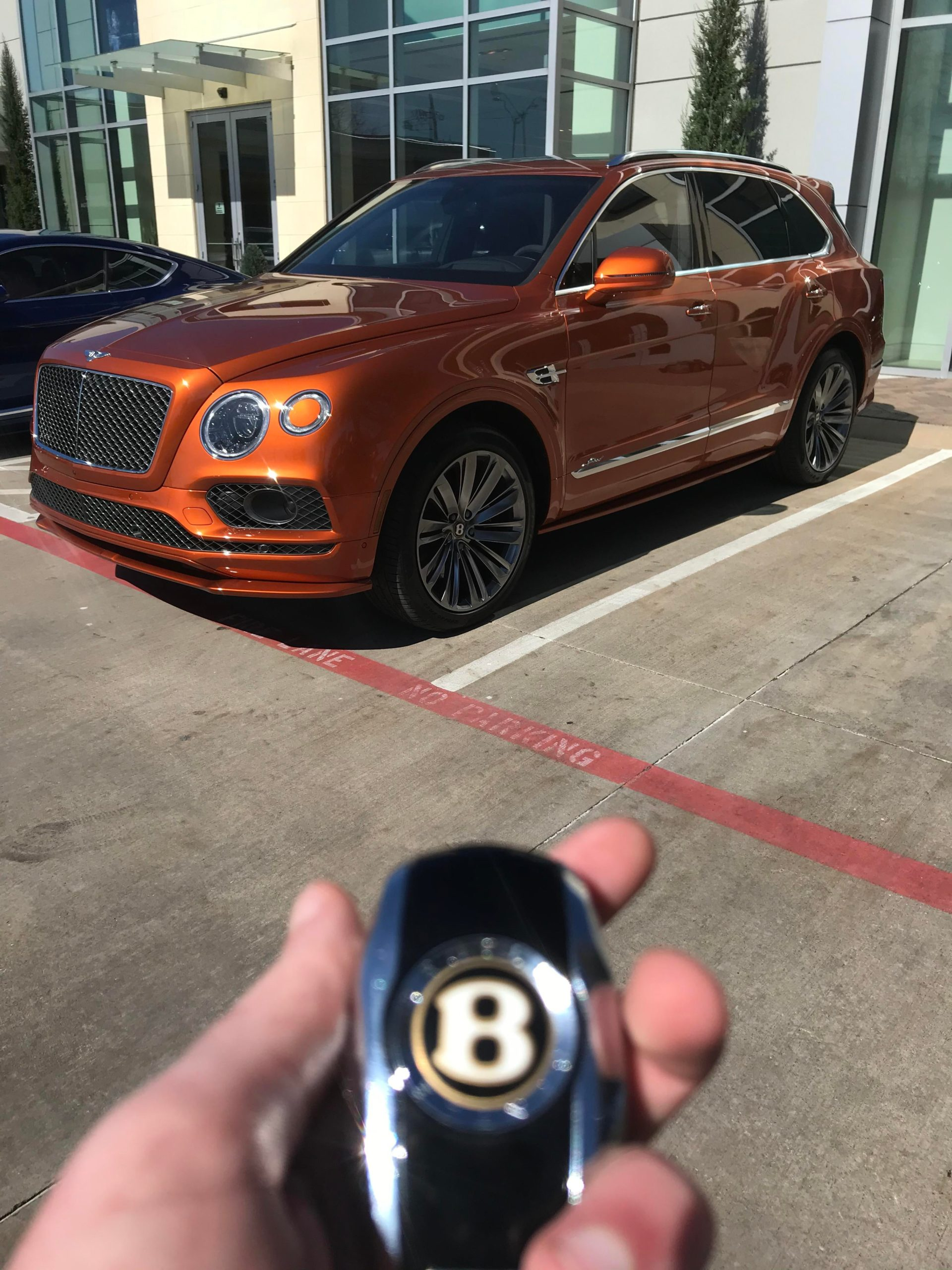 Bentley Bentayga Speed. The fastest production SUV on the planet with a top speed of 190 MPH.