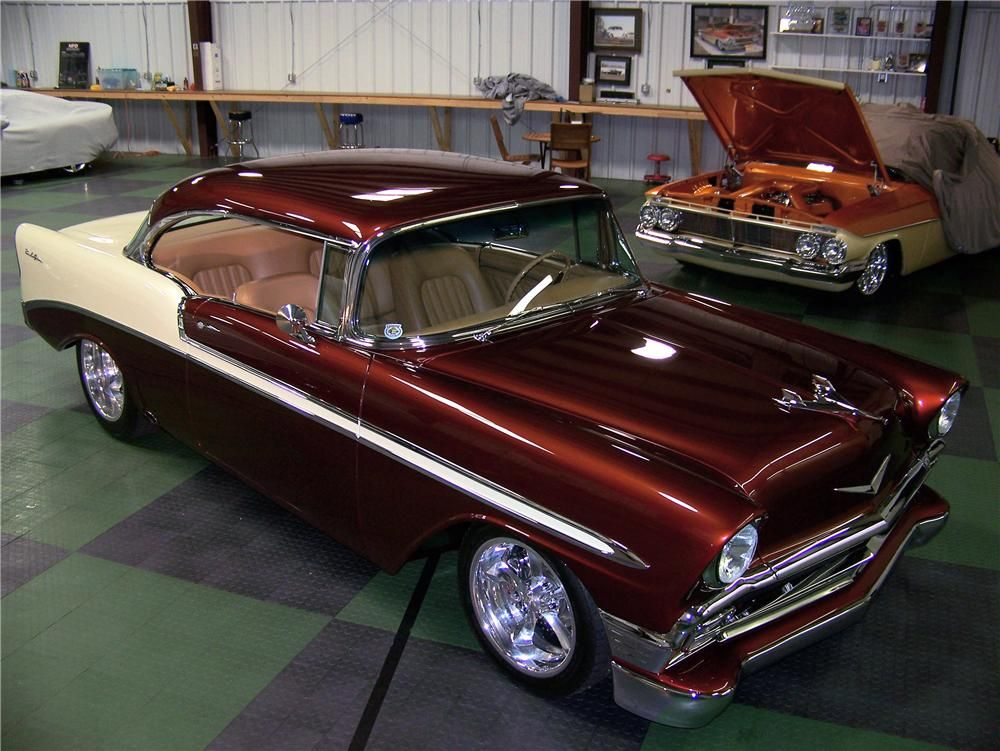 1956 CHEVROLET BEL AIR CUSTOM 2 DOOR HARDTOP – Barrett-Jackson Auction Company – World's Greatest Collector Car Auctions