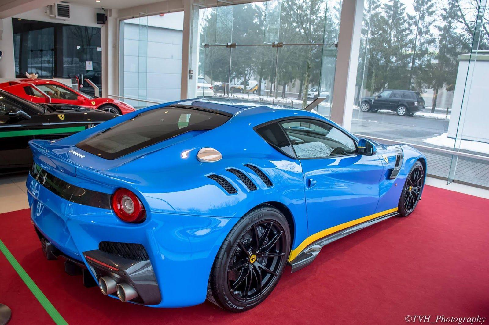Azzurro Dino Blue Ferrari F12tdf Is A 770hp Smurf   Carscoops