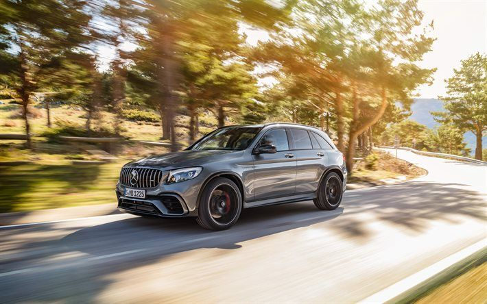 Download wallpapers Mercedes-Benz GLC63 S, AMG, 2018, Tuning GLC, crossover, German cars, Mercedes besthqwallpapers.com
