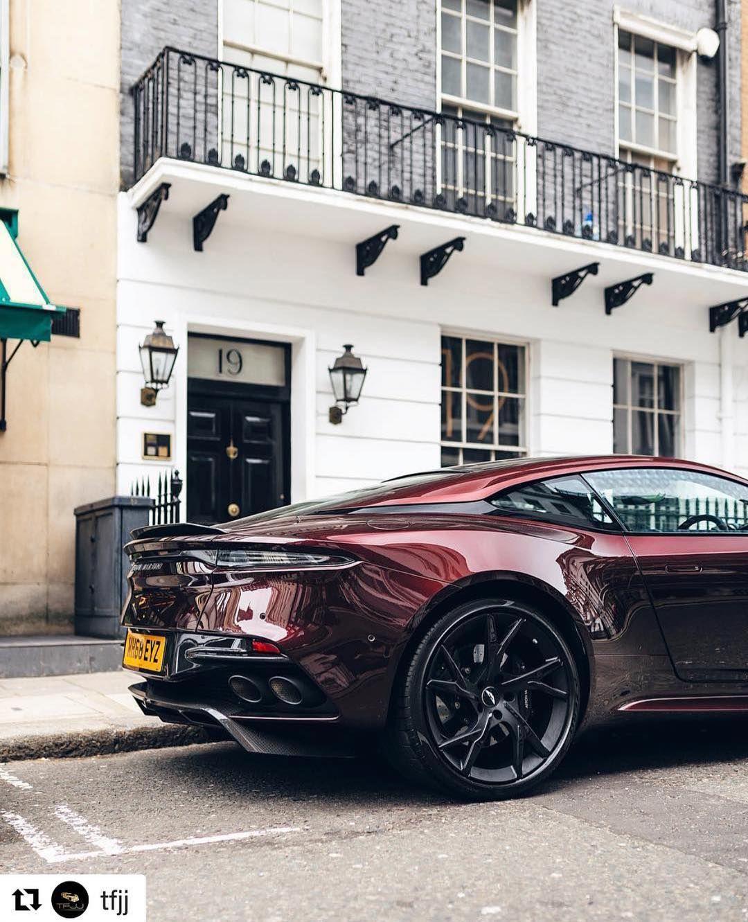 "Aston Martin News on Instagram: ""Another shot of the Divine Red DBS Superleggera? #astonmartin #dbs #superleggera #power #beauty #soul #sound #photooftheday #photography…"""