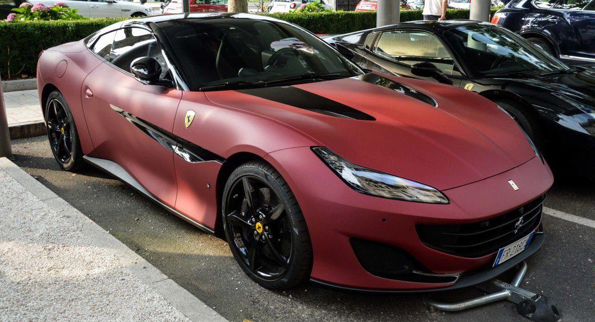 Ferrari Portofino Spotted With Matte Red-Black Dual Tone Exterior | Carscoops