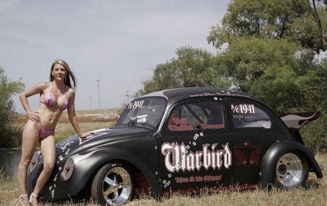Mostly Black Volkswagen Beetles: Photo