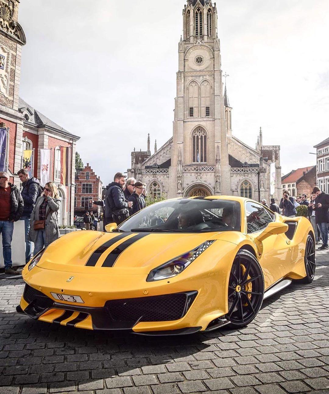 "Ferrari Club on Instagram: ""488 Pista in Giallo Modena? ? @gblbb46_carspotter"""