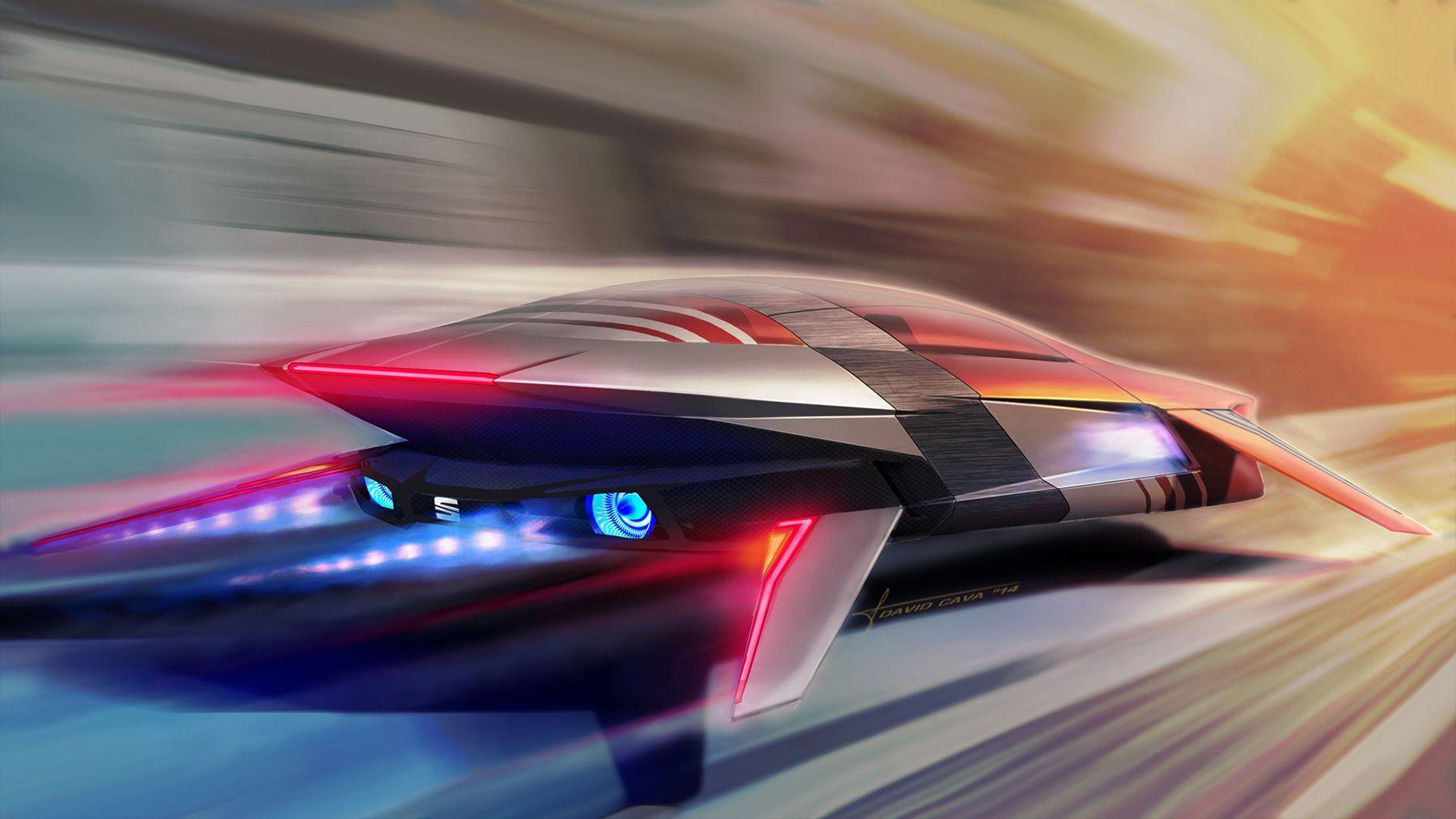 concept ships: SEAT MLx (Magnetic Levitation Xshape) by David Cava