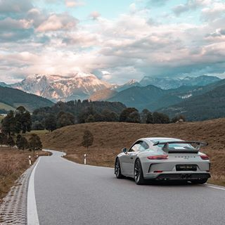 """The Travel Racer on Instagram: """"A road of many wonders! #porsche #911 #gt3 #porschemoment #savethemanuals #chalkpaint #pts"""""""