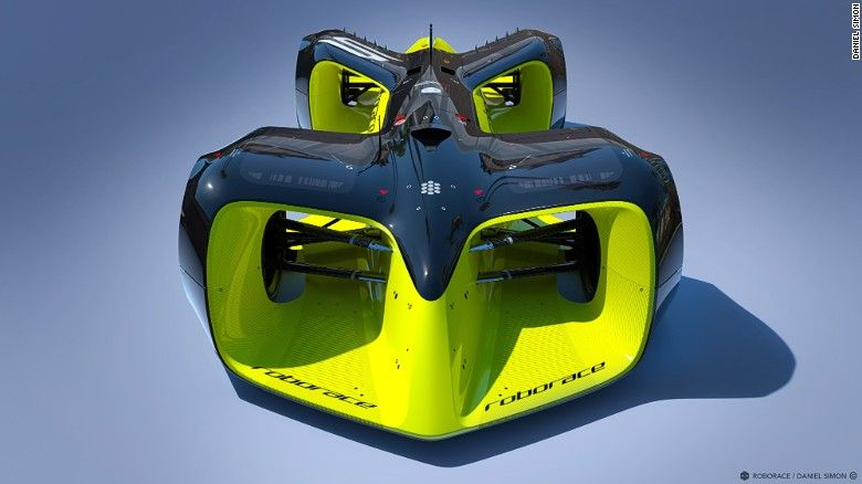 Looks like a concept car but it's actually the concept for the Roborace Car that…