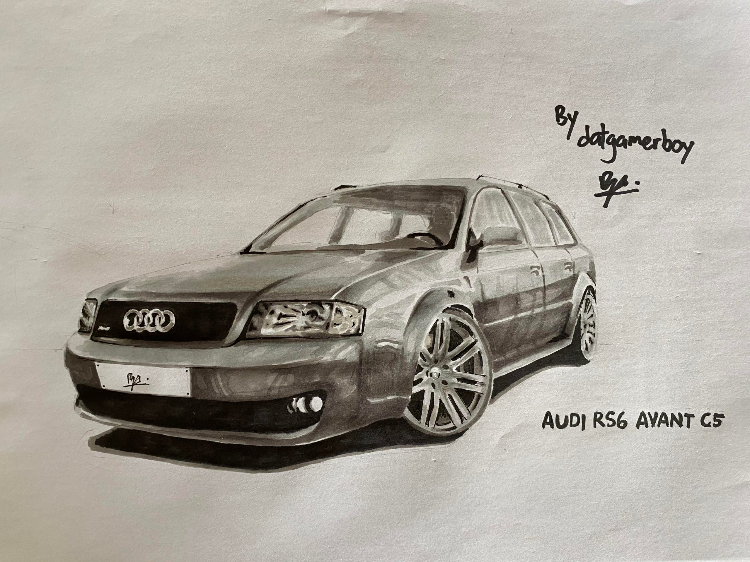 Marker drawing I made of the Audi RS6